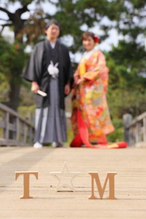 イニシャル小物<コスパ業界NO.1>東京・横浜で和装ロケーション撮影するならAsect(エーセクト)at三渓園