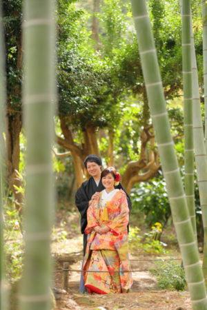 人気スポット竹林<コスパ業界NO.1>東京・横浜で和装ロケーション撮影するならAsect(エーセクト)at三渓園