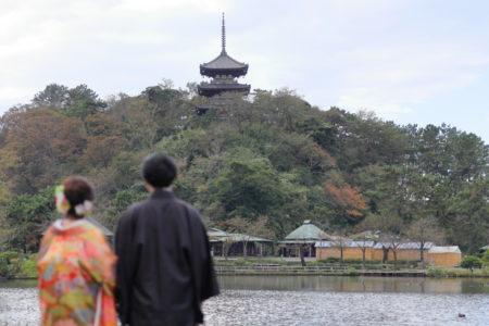 三重塔<コスパ業界NO.1>東京・横浜で和装ロケーション撮影するならAsect(エーセクト)at三渓園